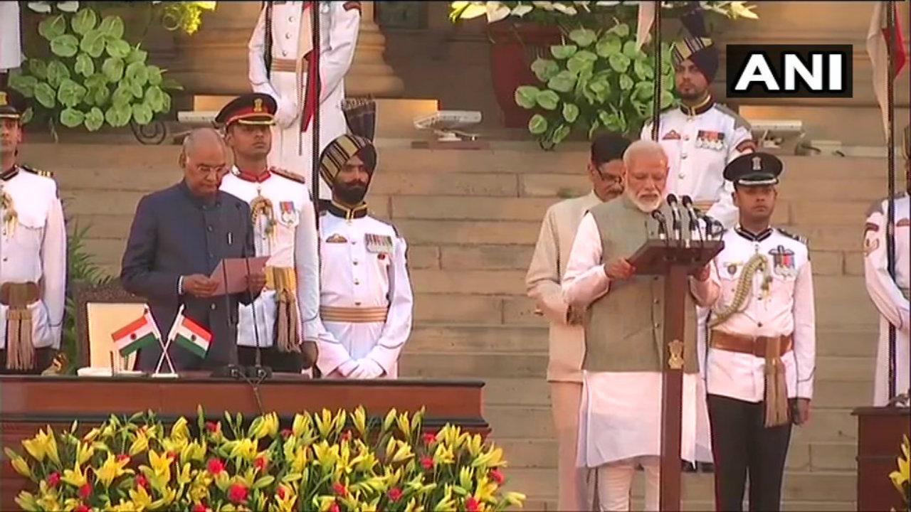 Narendra Modi takes oath as the Prime Minister of the 17th Lok Sabha. (Image: ANI)