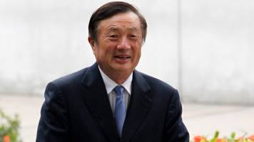 Huawei chief Ren Zhengfei flaunts 'tea' links with 10 Downing Street as he brushes aside US ban