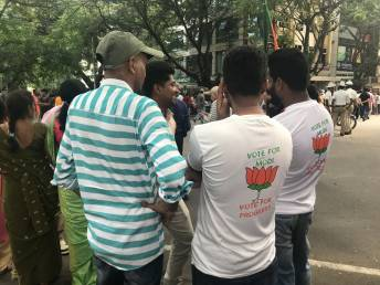 Supporters in NaMo t-shirts