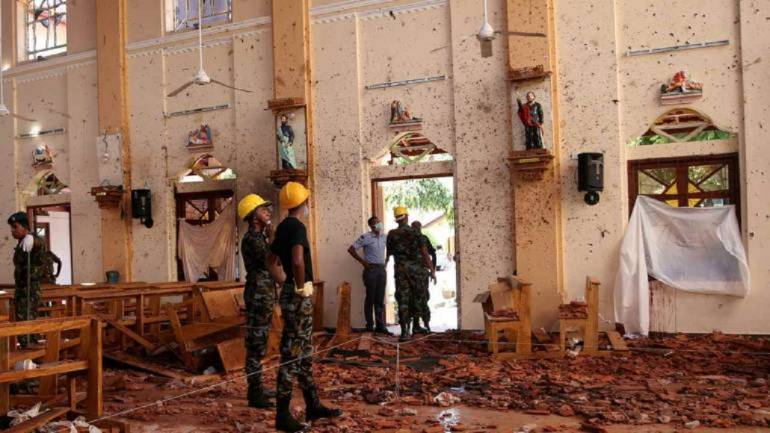 The carnage of one of the eight bomb blasts that rocked Sri Lanka on Easter this year