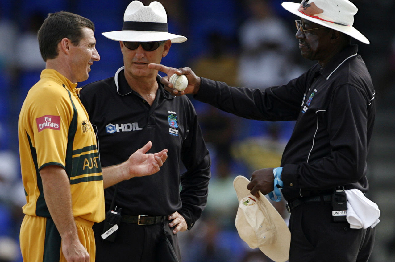 <strong>2007 World Cup</strong> | By officiating in the final of 2007 World Cup, Steve Bucknor became the first umpire to officiate in five World Cup finals - from 1992 to 2007. (Image: Reuters)