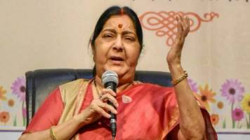 Polls end, talks with Pakistan begin: Congress on Sushma-Qureshi photo