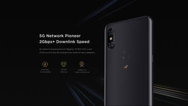 Xiaomi Mi Mix 3 5G phone displays 8K video streaming capability on a 5G network