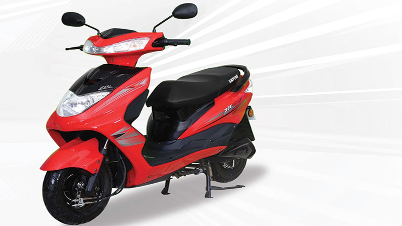 The e-Mobility branch of Greaves Cotton, Ampere Vehicles, recently launched a high-speed electric scooter called the Ampere Zeal. The scooter claims to have a range of 75 km on a full charge and it has gained a subsidy of Rs 18,000 under the government's FAME-II scheme. The e-scooter is powered by a 1200W BLDC hub motor mated to a 60V/30Ah li-ion battery, which can be charged fully in 5.5 hours. (Image source: Ampere Vehicles)