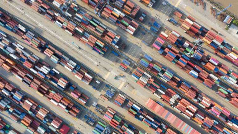 Containers are seen at a port in Ningbo, Zhejiang province, China. (Image: Reuters)