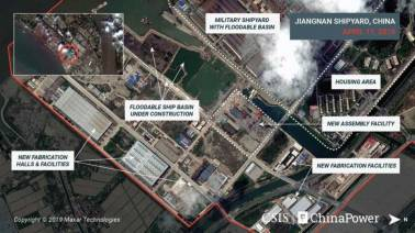 Analyst images show construction of China's third and largest aircraft carrier