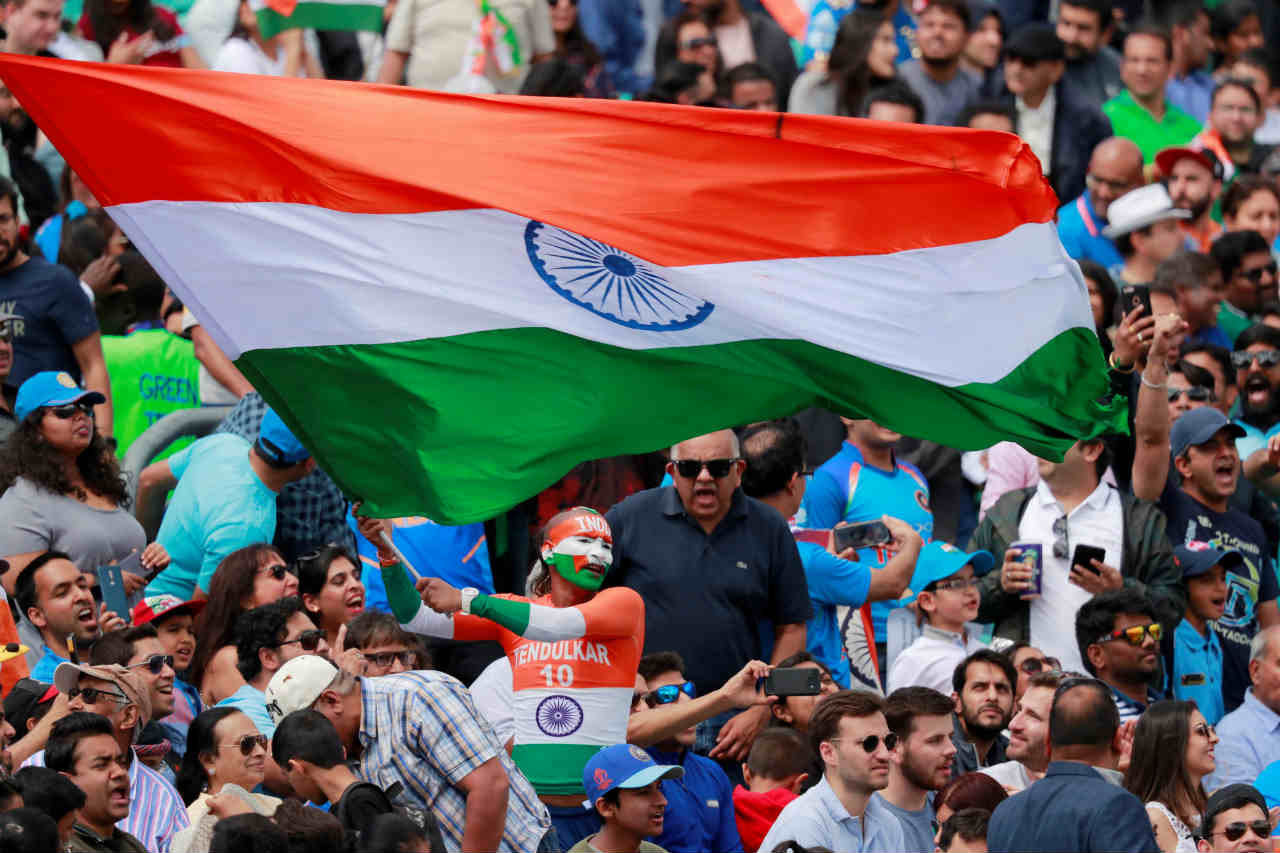 The Indian supporters were out in big numbers to support the 'Men in Blue' with the fixture sold-out. (Image: Reuters)