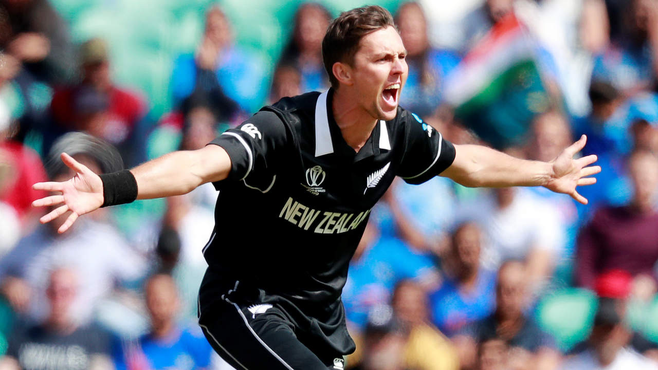 Trent Boult was lethal with the ball as he generated some early swing. He got rid of both Indian openers early trapping Rohit Sharma LBW in the 2nd over and then getting Shikhar Dhawan caught behind in the 4th over. Both openers managed to score just 2 runs each. (Image: Reuters)