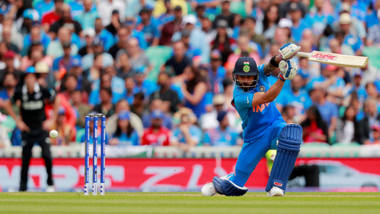 Kohli looked in good touch but was castled by Colin de Grandhomme in the 11th over. The Indian skipper returned with 18 off 24 balls with India languishing at 39/4. (Image: Reuters)