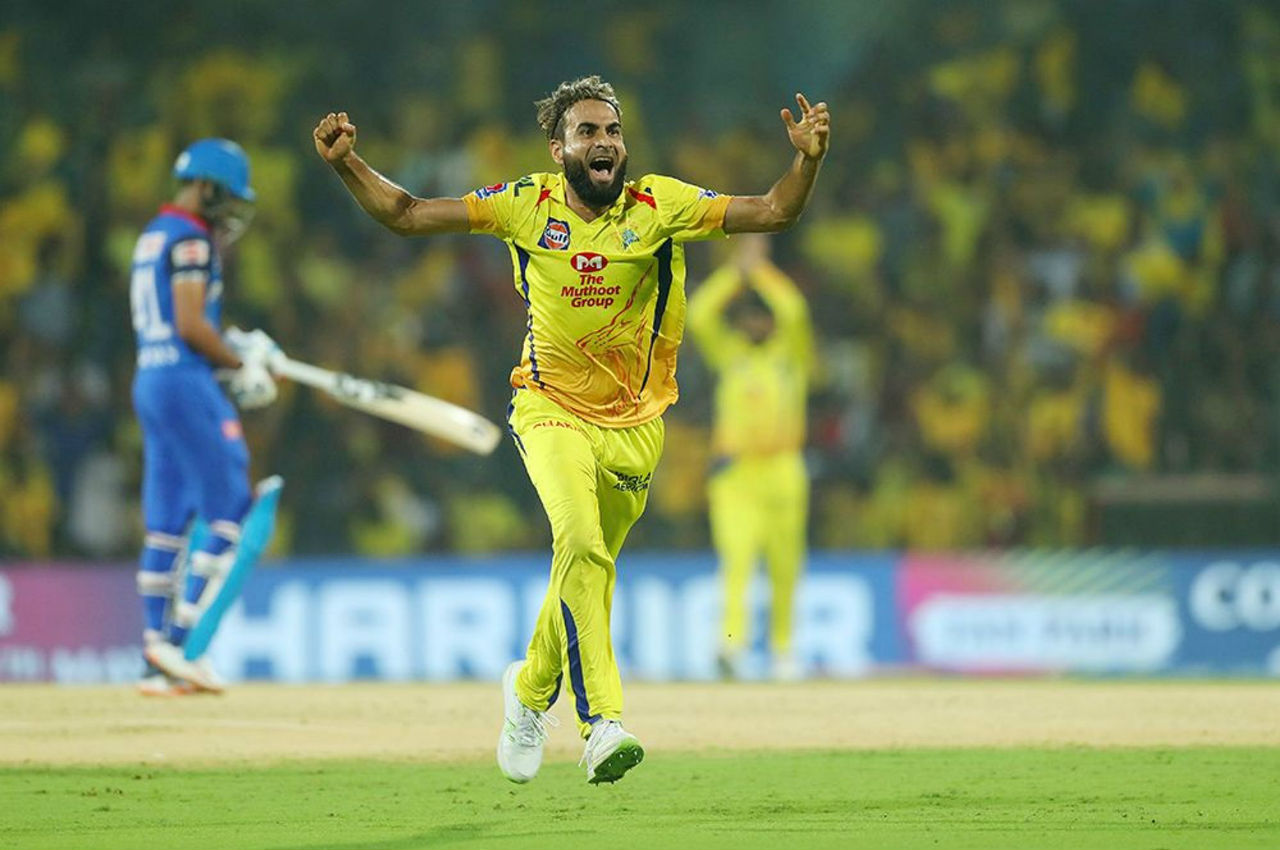 After Dhawan's wicket it was all Imarn Tahir and Ravindra Jadeja show. Tahir bowled a dream spell of 3.2-0-12-4.