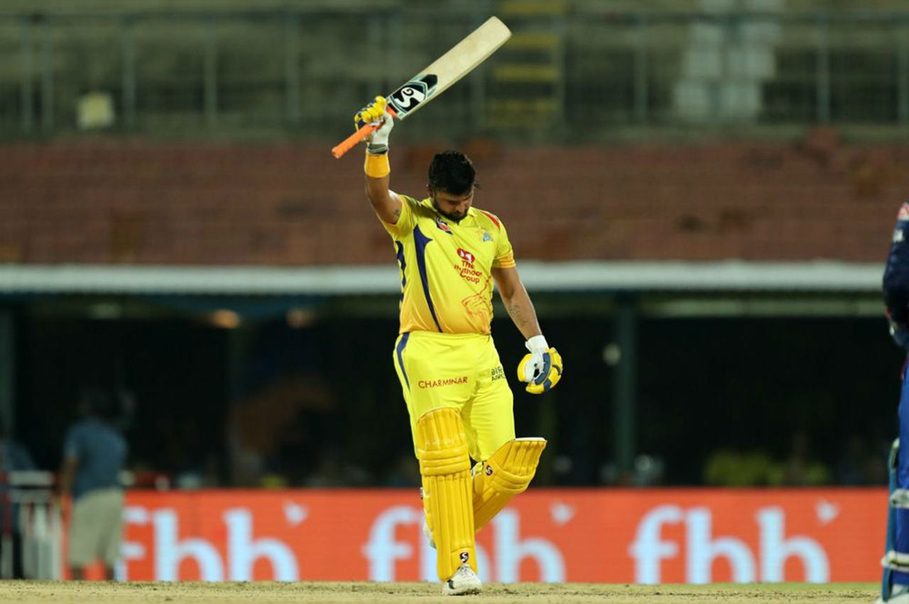 Raina completed his fifty in the 15th over. The southpaw made 59 off 37 balls before he was dismissed by Suchith in the 15th over.