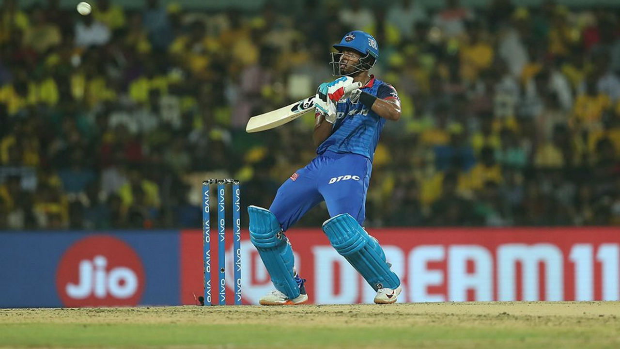Shreyas Iyer then along with Shikhar Dhawan then 48-run stand as the two batsmen constructed the Delhi's chase.