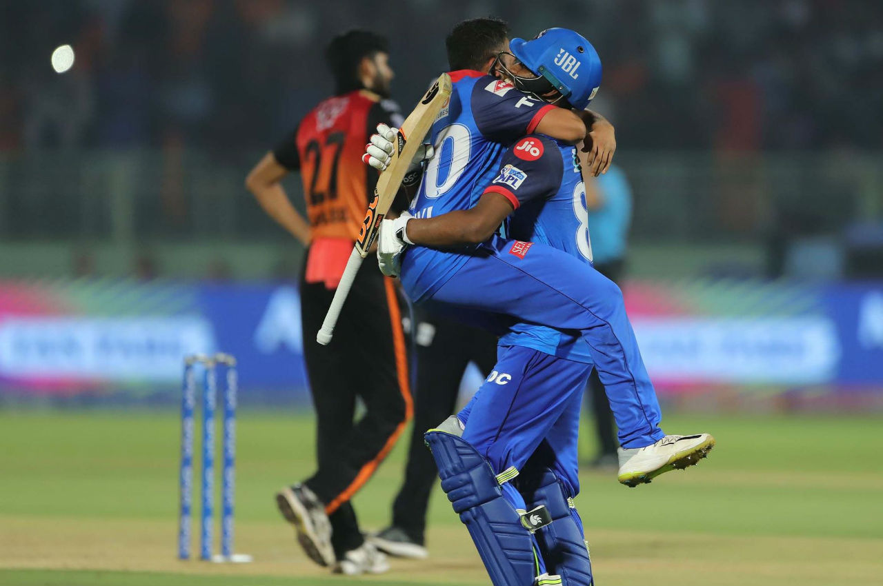 Keemo Paul hit a boundary of the penultimate ball of the match to deliver a 2-wicket win for DC and knock SRH out. Pant was the Player of the Match.