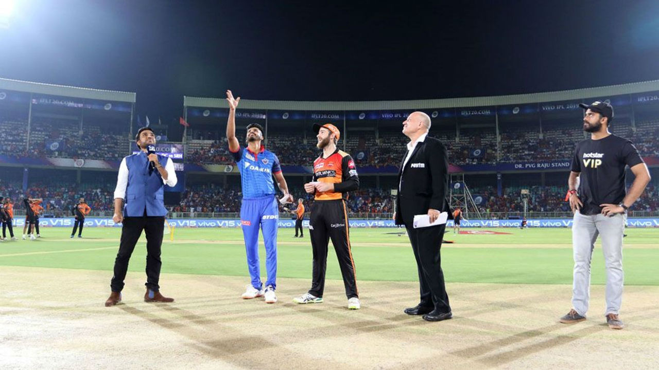For the Eliminator of the IPL 2019 playoffs Delhi Capitals took on Sunrisers Hyderabad at Dr. Y.S. Rajasekhara Reddy ACA-VDCA Cricket Stadium, Visakhapatnam.Delhi Capitals won the toss and opted to bowl. (Image: BCCI, iplt20.com)