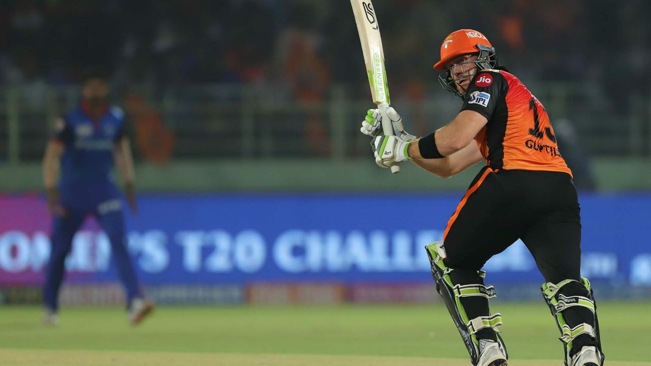 Guptill made a quickfire 36 off 19 balls before he was dismissed by Amit Mishra in the 7th over. SRH were 56/2.