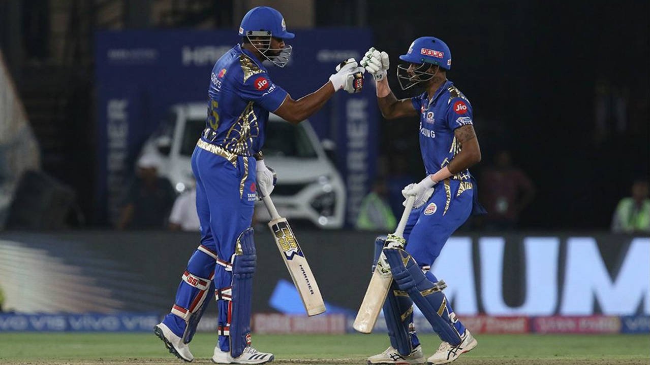 Kishan's wicket meant that the two big-hitters of the MI squad were united at the crease. Hardik Pandya and Kieron Pollard added 39 off just 22 balls for the sixth wicket. The partnership was broken by Chahar who trapped Hardik LBW in the penultimate over. Hardik returned with 16 off 10 balls. Chahar then got rid of his cousin Rahul Chahar for a duck just 2 balls later as he finished with impressive figures of 4-1-26-3. (Image: BCCI, iplt20.com)