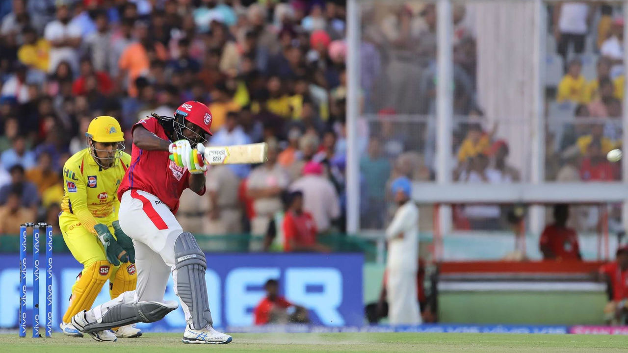 By his lofty standards, Gayle played a sedate innings of 28 from 28 balls but Punjab were cruising along in the chase.