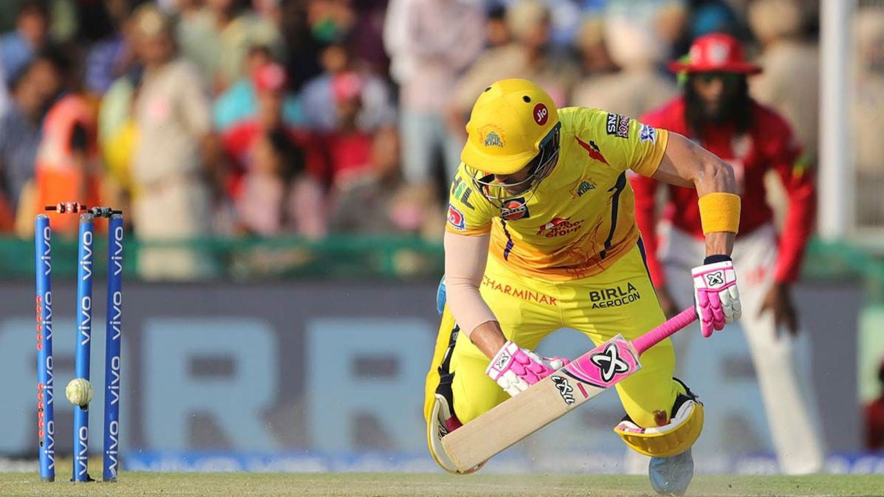 du Plessis batted well for for his 96. His innings was studded with 10 fours and 4 sixes. In the 19th over a brilliant yorker from Curran clean bowled the CSK opener. Chennai were 163/3 when du Plessis got out.