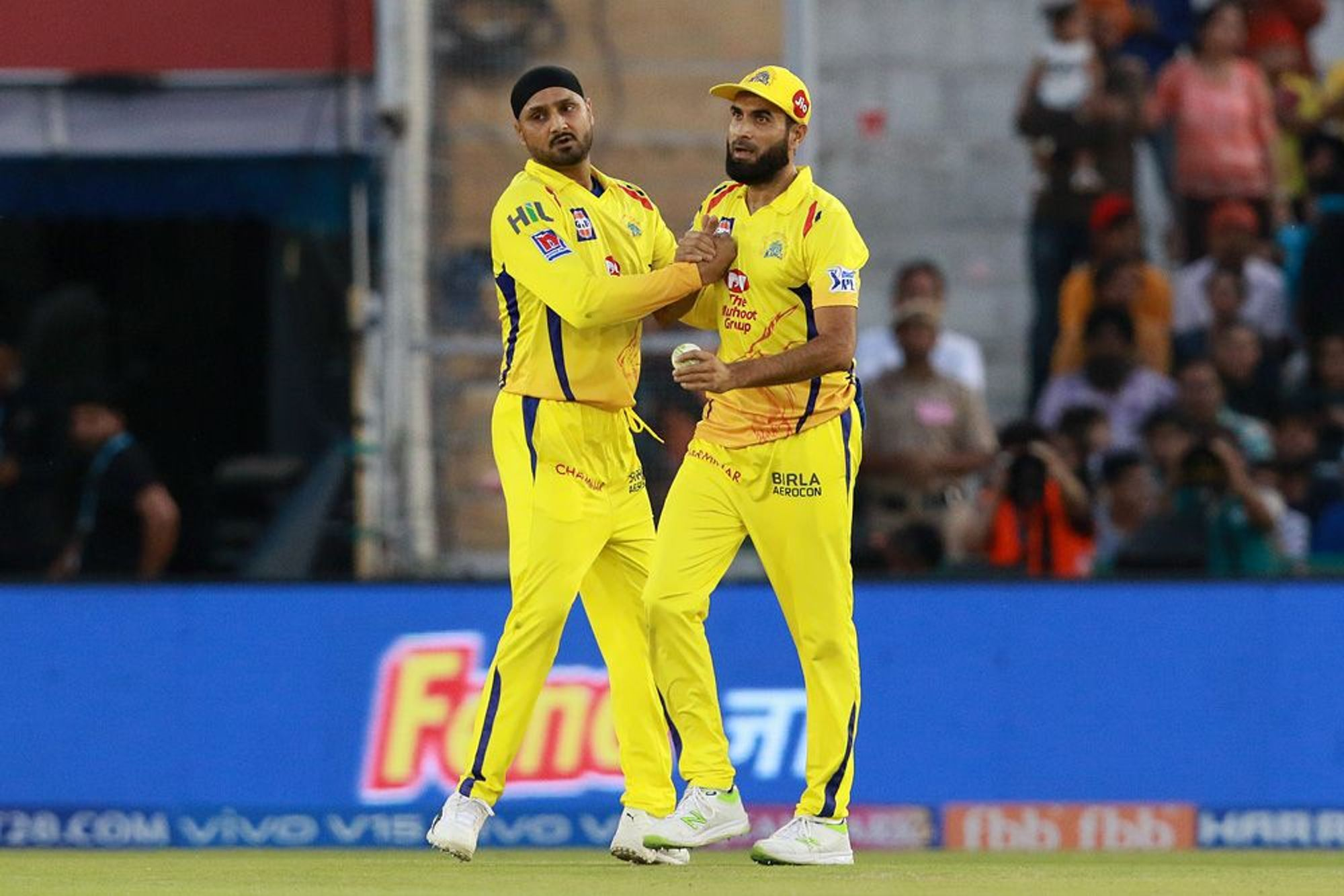 Harbhjajan Singh picked the wickets of Rahul and Gayle off the successive deliveries in the 11th over as Chennai tried to fight back. While Rahul blasted 71 off 36 balls, Gayle scored 28 . KXIP were 108/2 at fall of Gayle's wicket.