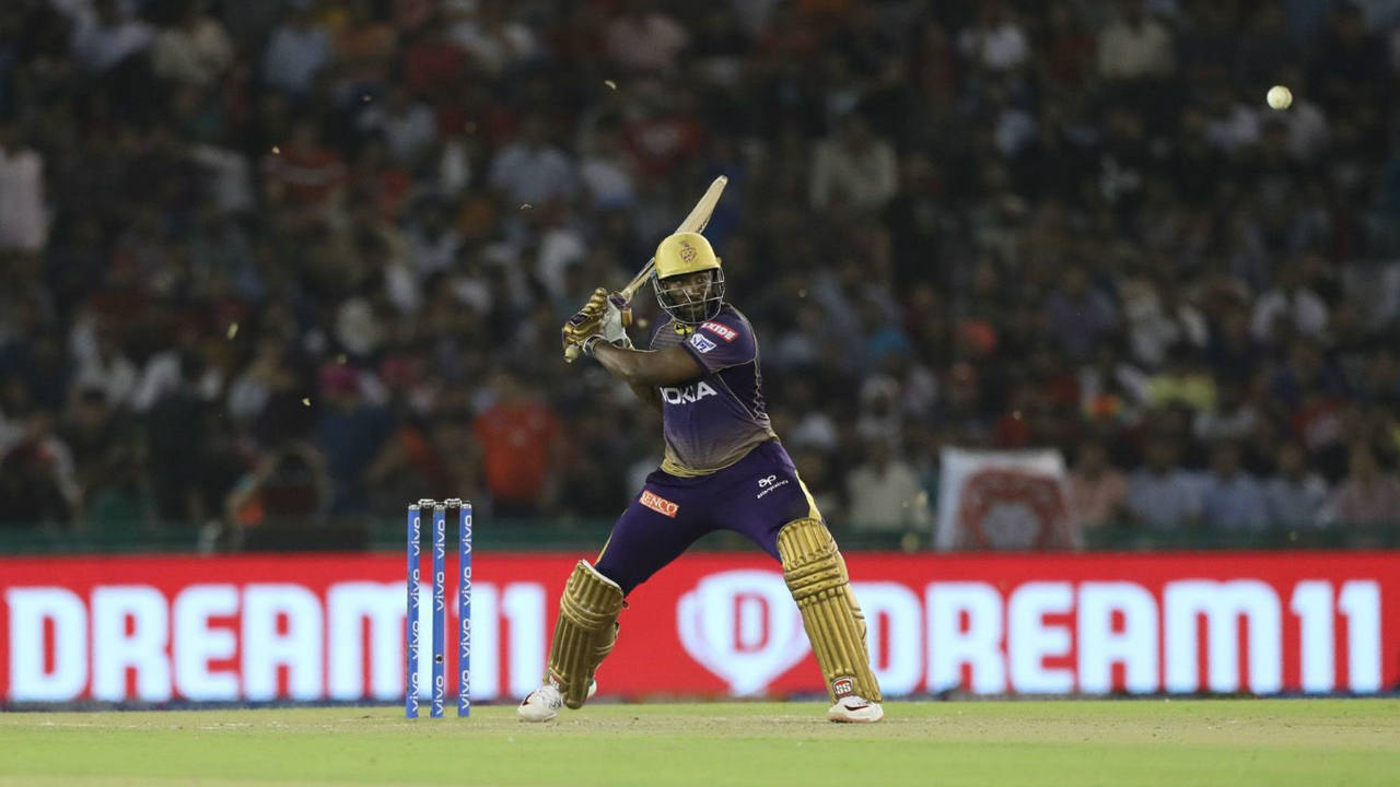 Andre Russell hit 24 off just 14 balls before Mohammed Shami sent him back in the 15th over. KKR needed just 34 off 31 balls to win when Russell walked back. (Image: BCCI, iplt20.com)