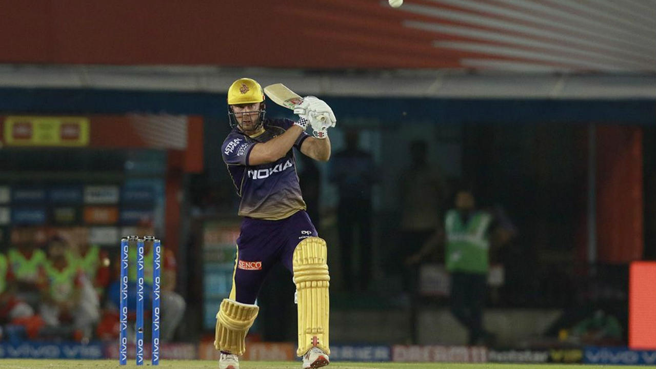 KKR got off to a great start with Chris Lynn and Shubman Gill sharing a 62-run partnership off just 36 balls. Lynn was the first to depart as Andrew Tye sent him back with 46 off just 22 balls off the last ball in the 6th over. (Image: BCCI, iplt20.com)
