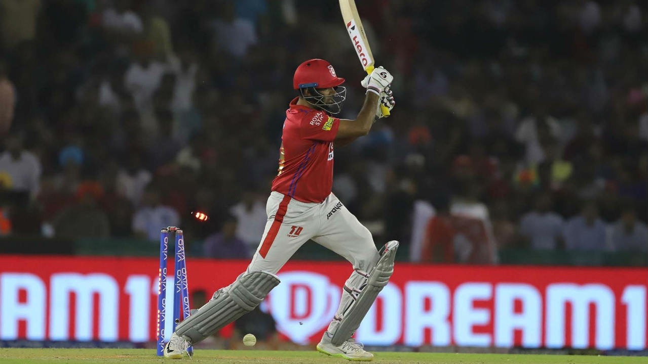 Andre Russell castled Ravichandran Ashwin sending back the KXIP skipper for a duck in the 19th over. Things weren't looking great for KXIP but Sam Curran provided a late burst adding 55* runs off just 24 balls to take his team to a respectable total of 183/6. (Image: BCCI, iplt20.com)