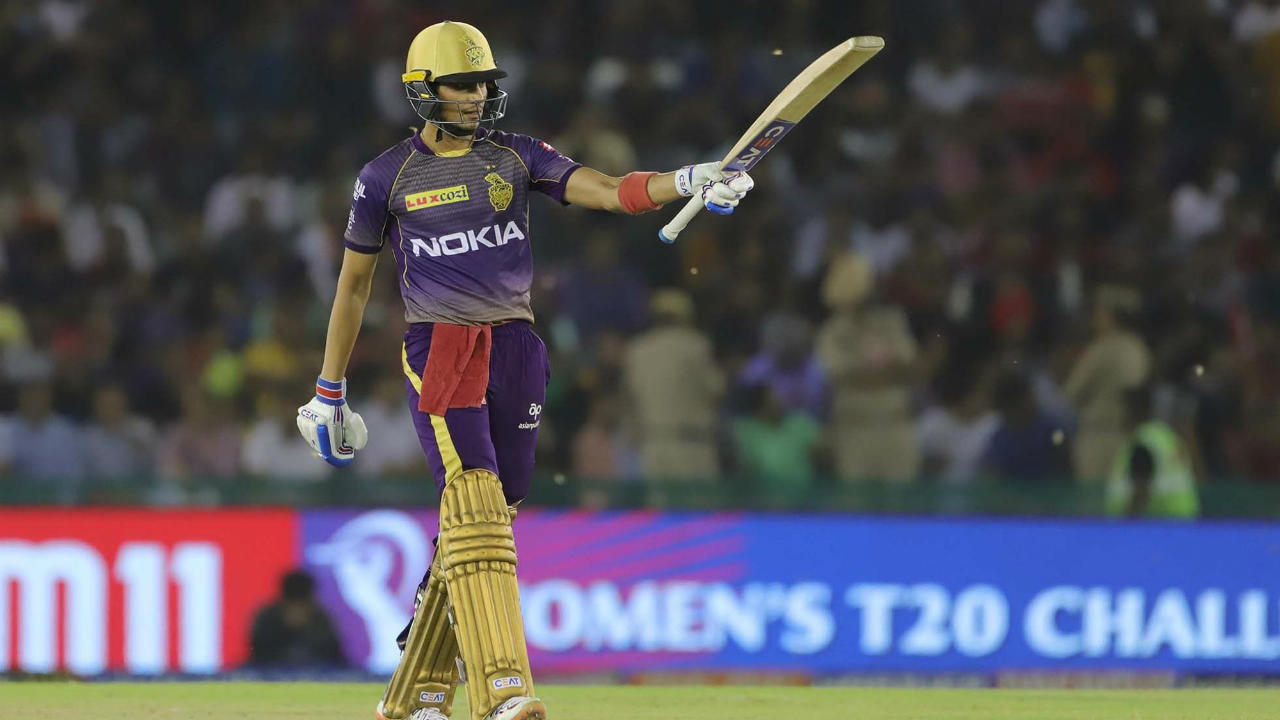 19-year-old Shubman Gill batted brilliantly throughout the innings and even took 18 runs off KXIP skipper R Ashwin in the 13th over. He brought up his fifty with a silken late cut in that over completing his half-century off just 36 balls. (Image: BCCI, iplt20.com)