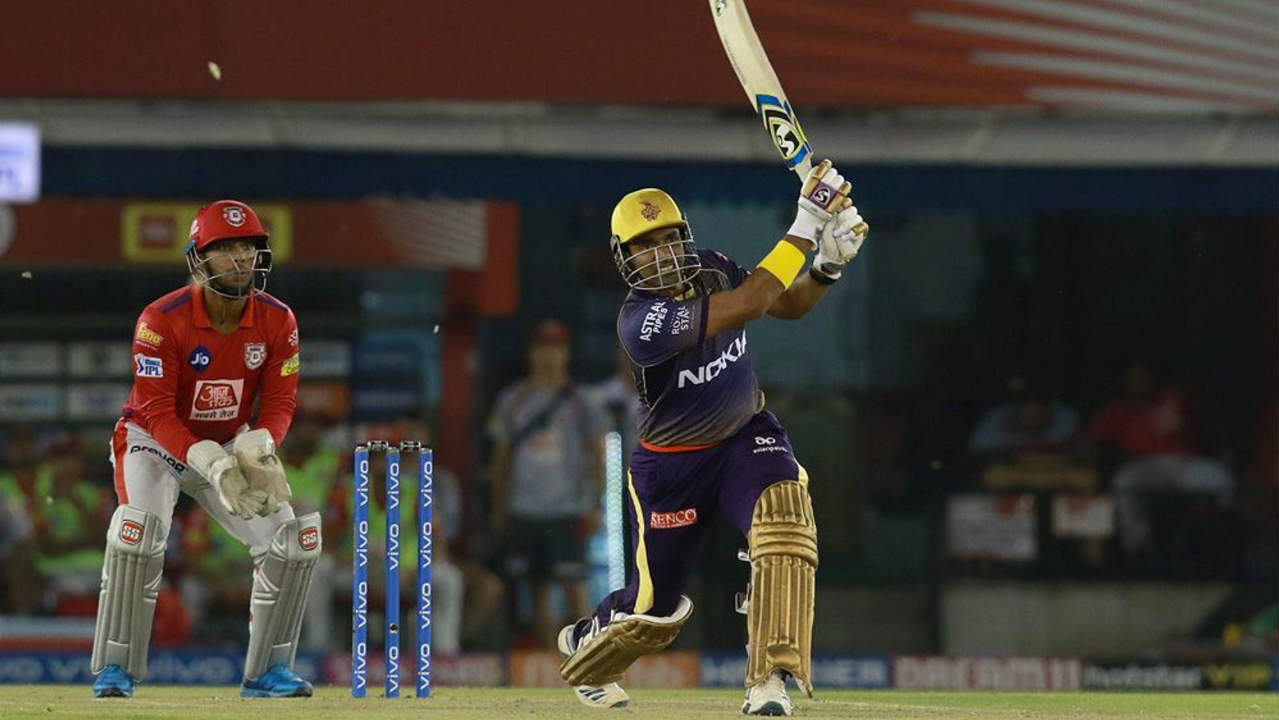 Robin Uthappa played a few impressive shots but his stay at the crease was cut short by R Ashwin in the 11th over. Uthappa returned with 22 off 14 balls as KKR were well-placed at 100/2. Lynn was the first to depart as Andrew Tye sent him back with 46 off just 22 balls off the last ball in the 6th over. (Image: BCCI, iplt20.com)