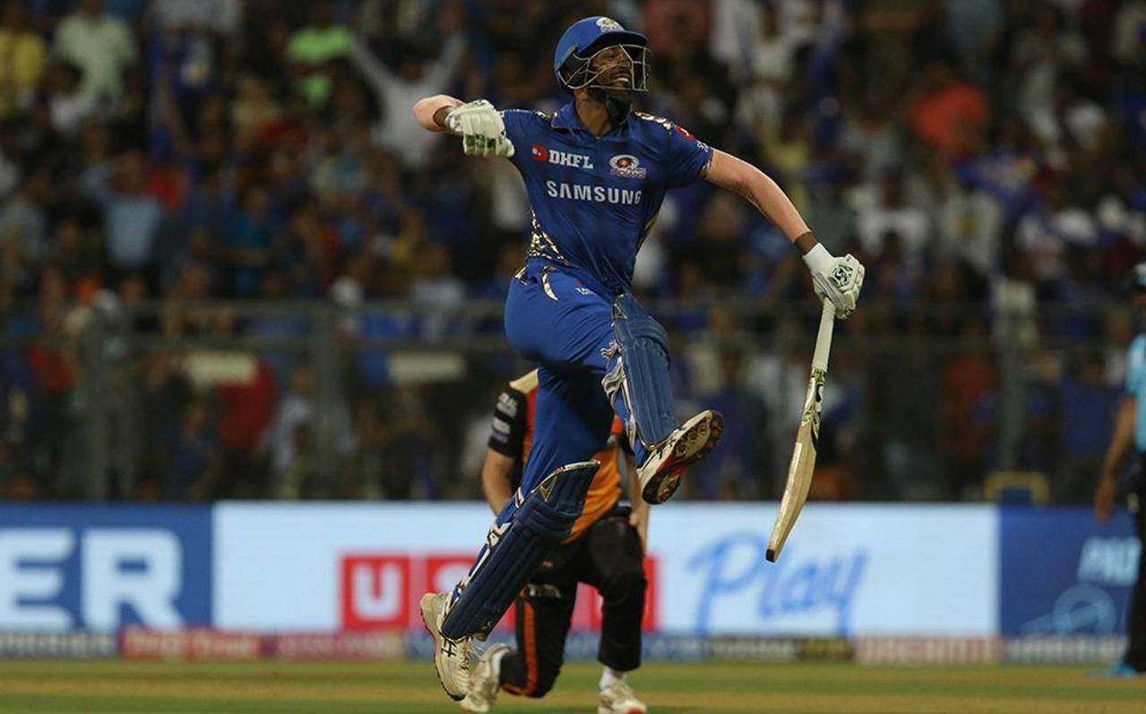 Hardik Pandya hammered a six off Rashid Khan on the 1st delivery of the Super Over as he and Kieron Pollard chased down the total with 3 balls to spare. The win meant that Mumbai moved up to second spot on the table sealing their spot in the playoffs. SRH need to win their last two games to stand a chance of qualifying. (Image: BCCI, iplt20.com)