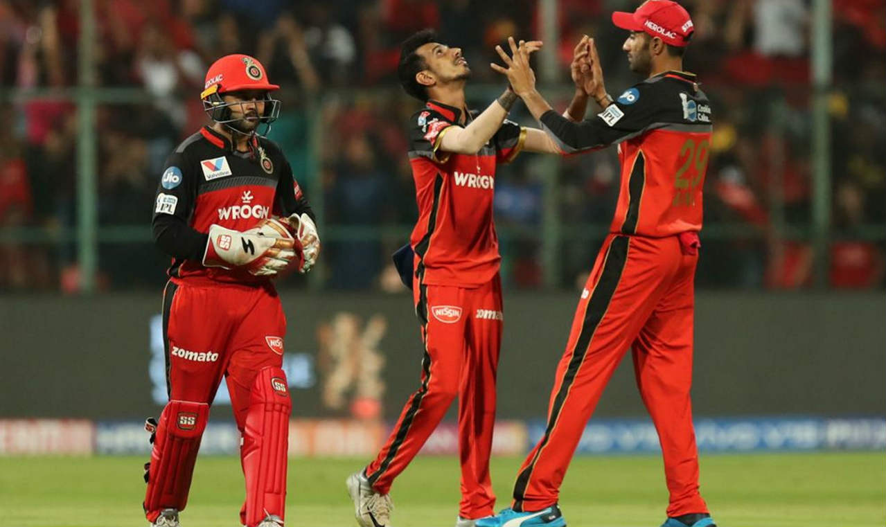 Yuzvendra Chahal picked up his 100th IPL scalp when he got rid of Yusuf Pathan in the 16th over. Pathan made just 3 runs as SRH were reduced to 127/5. (Image: BCCI, iplt20.com)