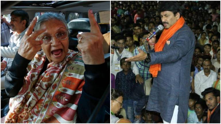 Images: Reuters (left) and Twitter/@BJP4Delhi (right)