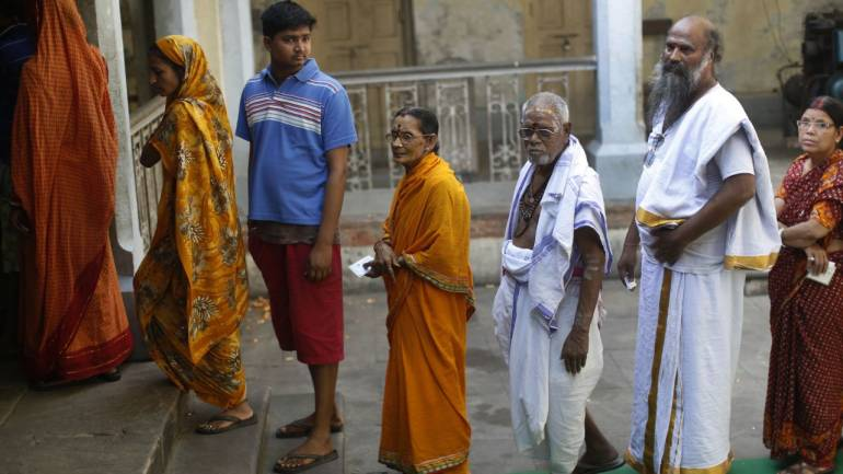 On May 12, Varanasi underwent voting for the Lok Sabha elections 2014. The total polling percentage reached a record 58.31 percent, as against less than 43 percent in last general elections in 2009. (Image: Reuters)
