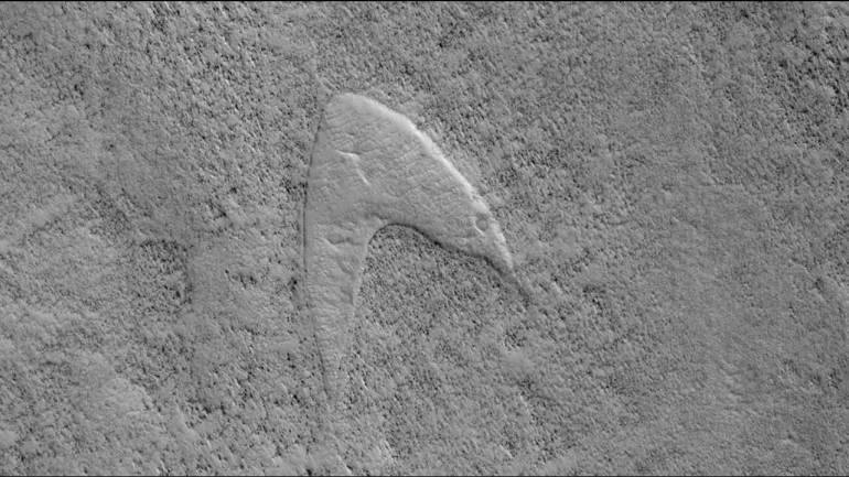 NASA camera spots Star Trek logo on Mars