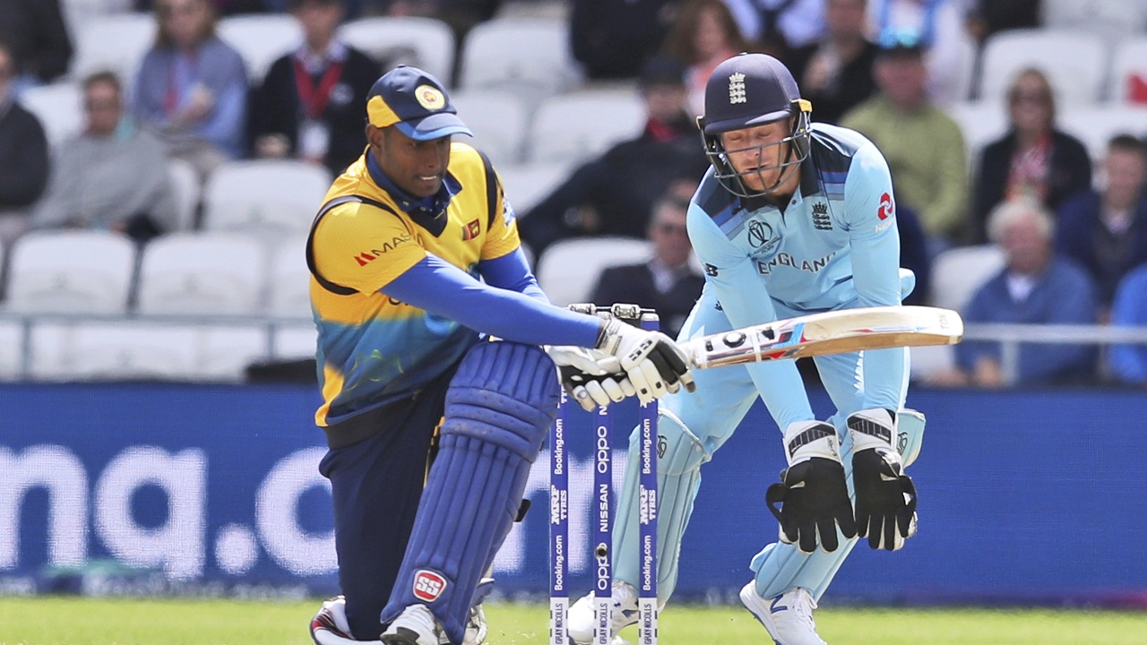 Sri Lanka lost wickets in a heap towards the end of the innings but Mathews remained unbeaten finishing with 85 off 115 balls. Lanka finished with 232/9 after 50 overs. Both Wood and Archer finished with 3 wickets each. (Image: AP)