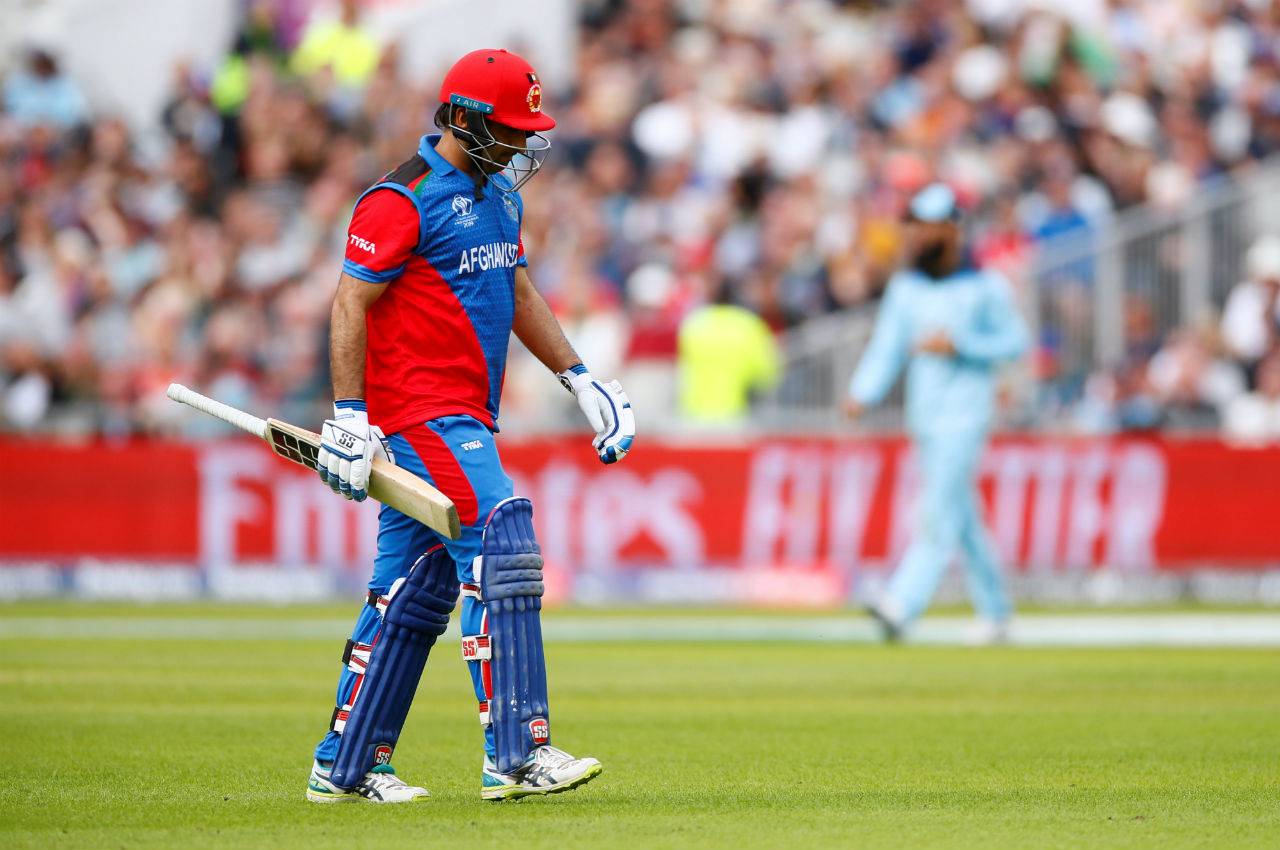 Asghar Afghan hit 44 from 48 balls and was dismissed by Adil Rashid in the 41st over. (Image: Reuters)