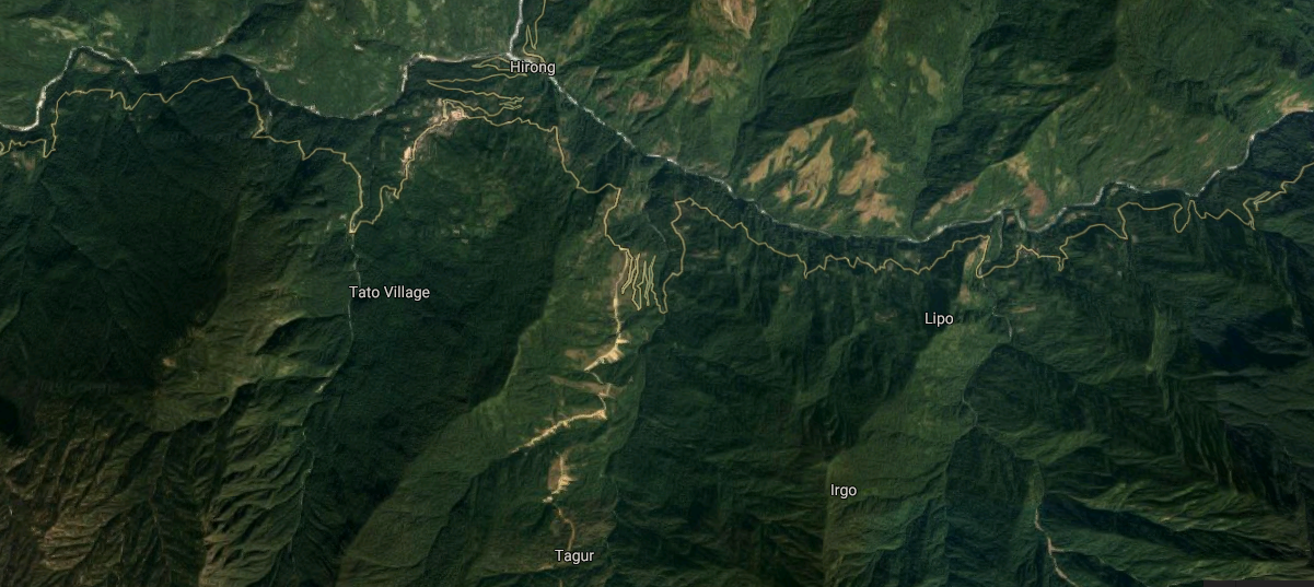 Forest area of Arunachal Pradesh where the AN-32 wreckage was found (Image: Google Maps)