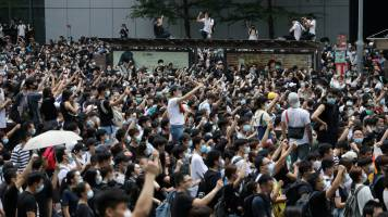 Moody's downgrades Hong Kong outlook to 'negative' as protests continue