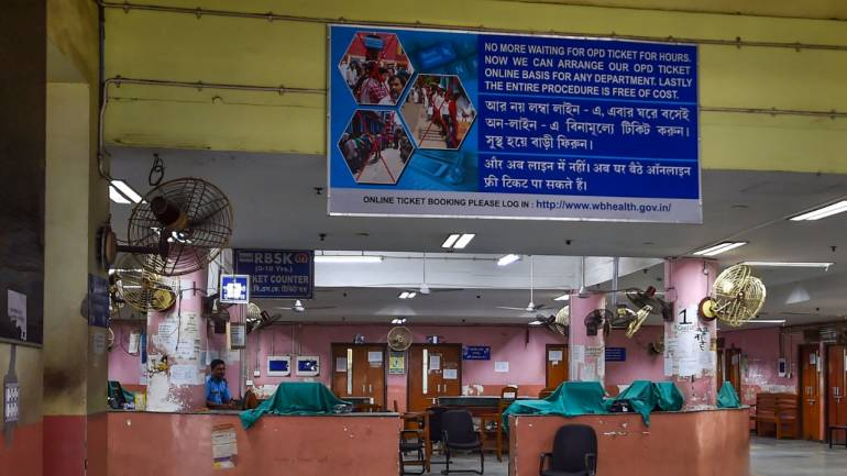 A hospital in Kolkata wears a deserted look amid protests by doctors (Image: PTI)
