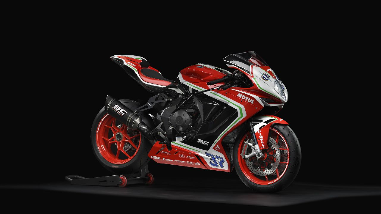 The MV Agusta F3 800 RC has been launched in the India for the asking price of Rs 21.99 lakh (ex-showroom). This price is Rs 4 lakh more than the standard F3 800 but also comes equipped with a racing kit and a racing ECU. (Image source: MV Agusta)