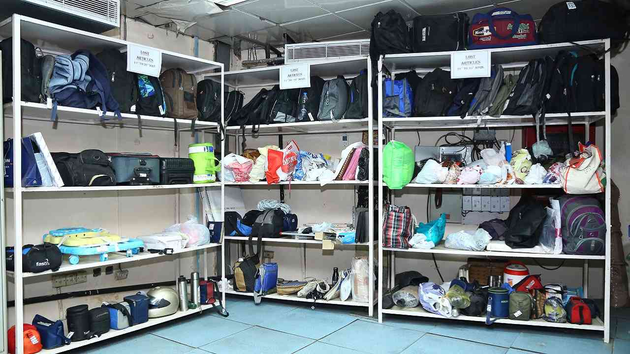 Inside the Lost and Found department. (Image Courtesy: Delhi Metro)