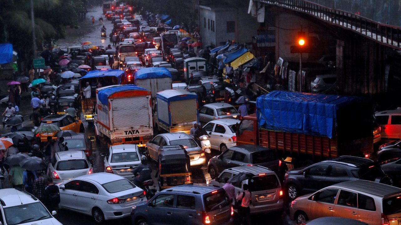 Mumbai grabs the top spot in this list, earning itself the title of world's most congested city. With a congestion level of 65 percent, it beats 403 others to clinch the title. Factors such as the lack of road space, simultaneous infrastructure projects, low adherence to traffic rules and a high population and car density have been cited as the reason behind the high traffic. (Image: Reuters)