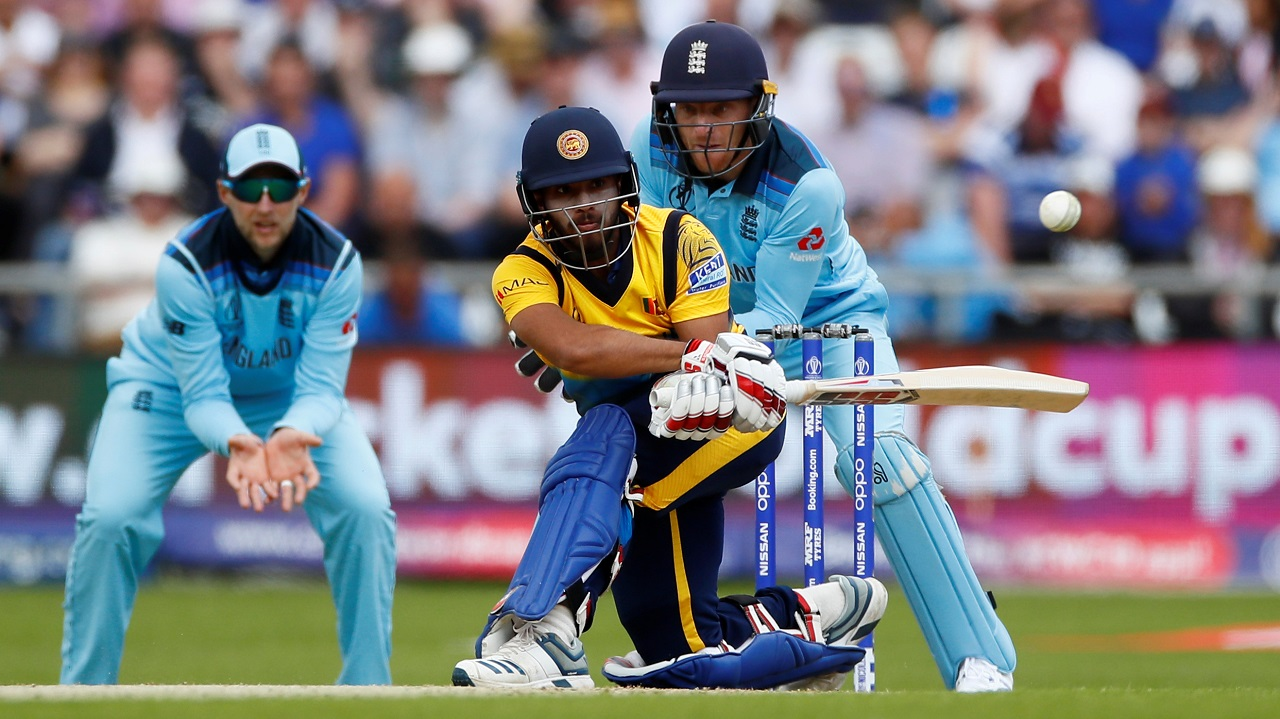 Angelo Mathews and Kusal Mendis then put up a 71-run stand for the 4th wicket. Adil Rashid than landed a heavy double-blow getting rid of Kusal Mendis and Jeevan Mendis off consecutive deliveries in the 30th over. (Image: Reuters)