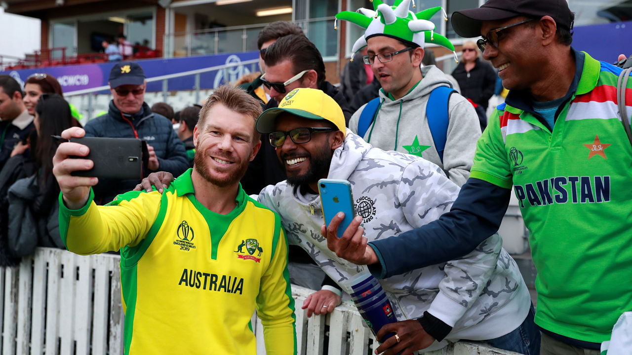Centurion and Player of the Match David Warner was happy to take to a few post-match selfie with the fans at Taunton. (Image: Reuters)