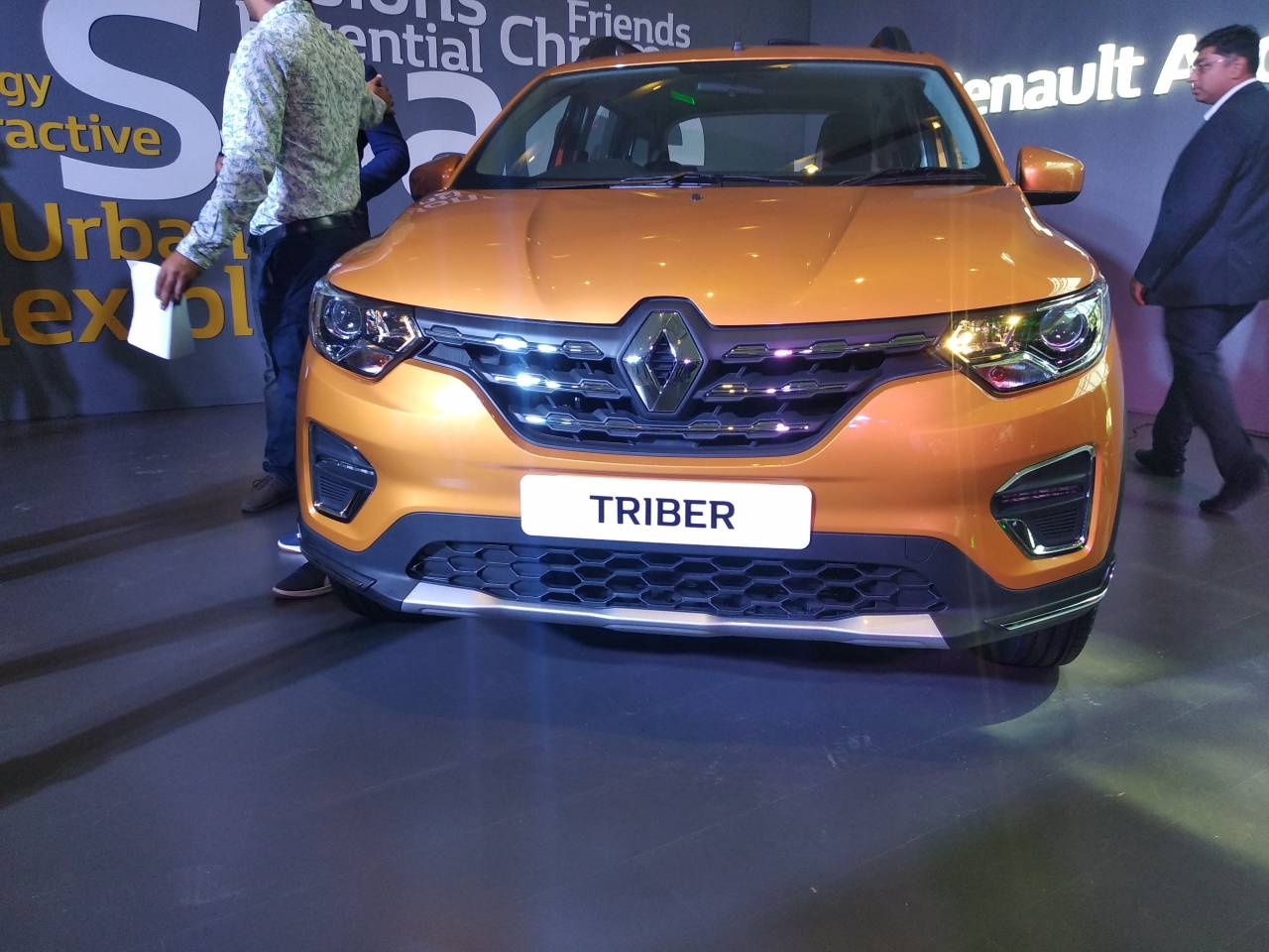 The Triber gets a refrigerated central storage area and cup holders, charging sockets and air-conditioning for all passengers. Lower globe box is also refrigerated while the upper glove compartment has a capacity of four litres. (Image: Moneycontrol)