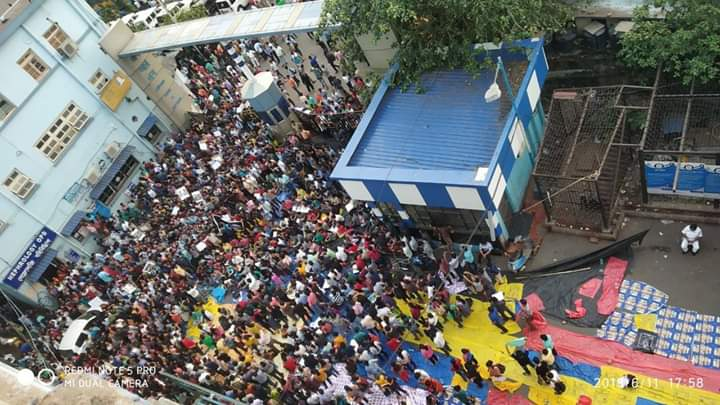 The gathering at NRS Hospital on Thursday (Source: NRS intern)