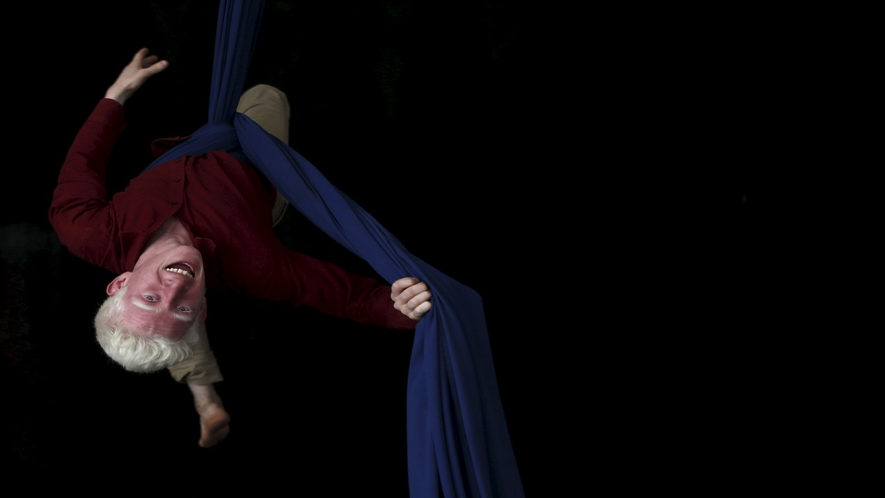 Aerial Yoga: A combination of Yoga and Pilates stretches the whole body, making sure to strengthen all the muscles and joints. (Image Source: Reuters)