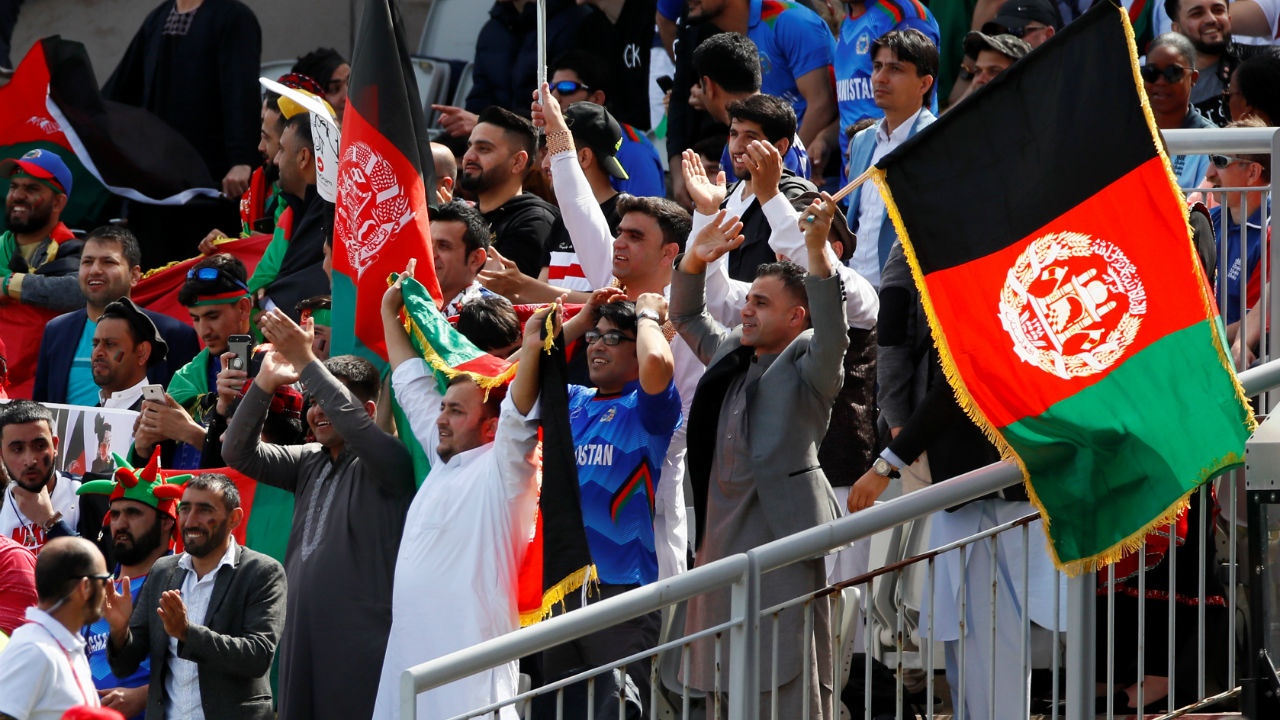 Afghanistan met England for 24 of ICC Cricket World Cup 2019 at Emirates Old Trafford in Manchester. England skipper Eoin Morgan won the toss and elected to bat. England made a couple of changes, bringing in James Vince and Moeen Ali in place of the injured Jason Roy and Liam Plunkett. For Afghanistan, Dawlat Zadran , Najibullah Zadran and Mujeeb Ur Rahman replaced Aftab Alam, Hazratullah Zazai and Hamid Hassan. (Image: Reuters)