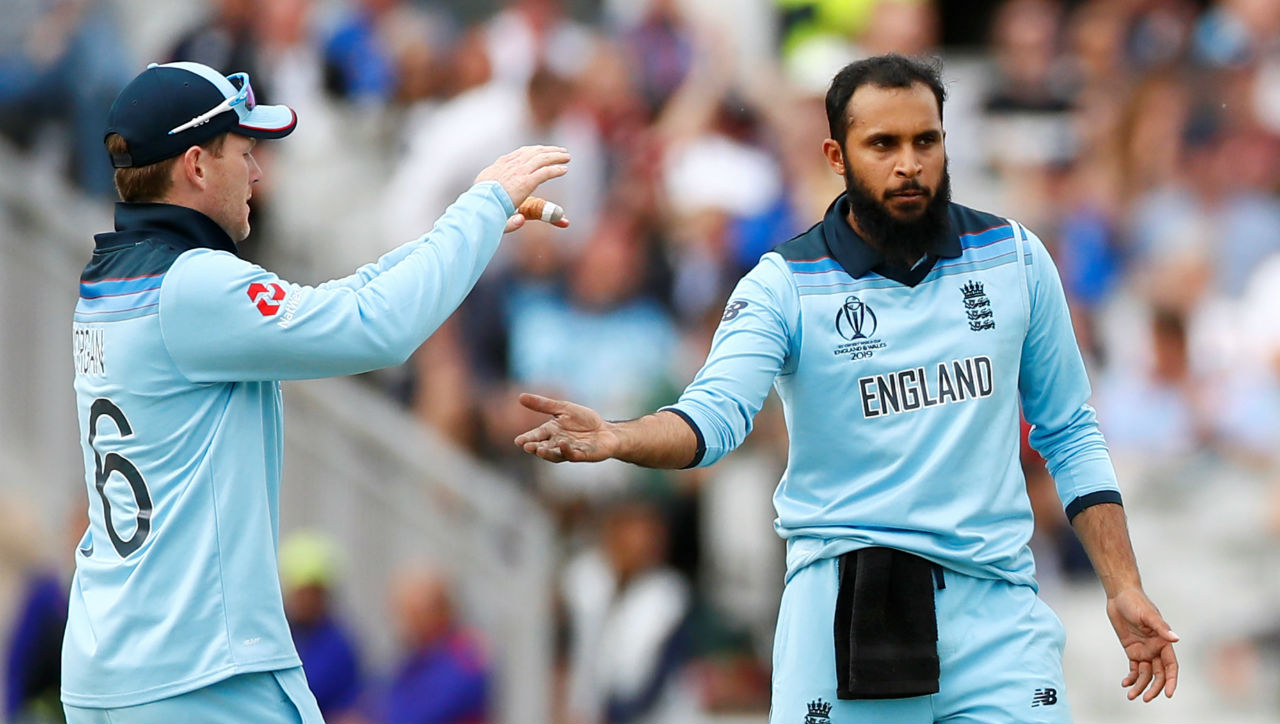 Soon after Rashid send back Mohammad Nabi as England inched closer to win. (Image: Reuters)
