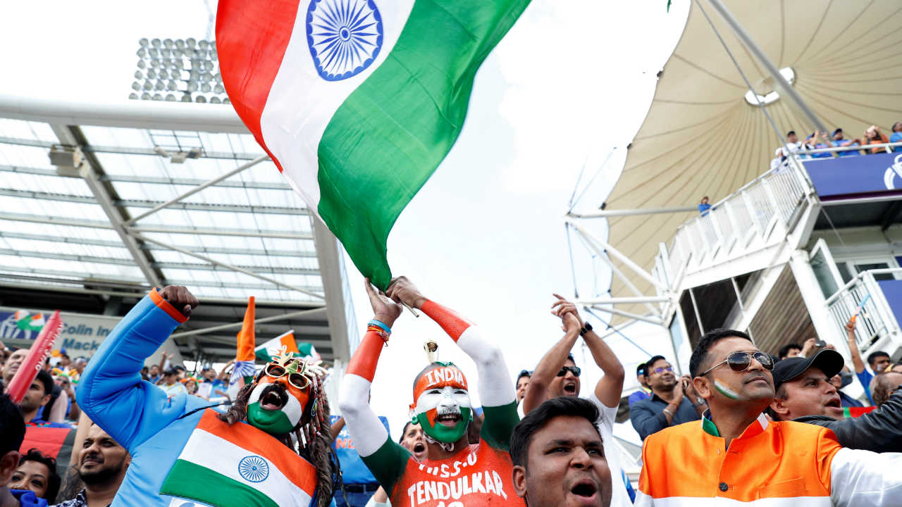 Indian fans in full voice at The Rose Bowl in Southampton as the Men in Blue take field against Afghanistan. (Image: Reuters)