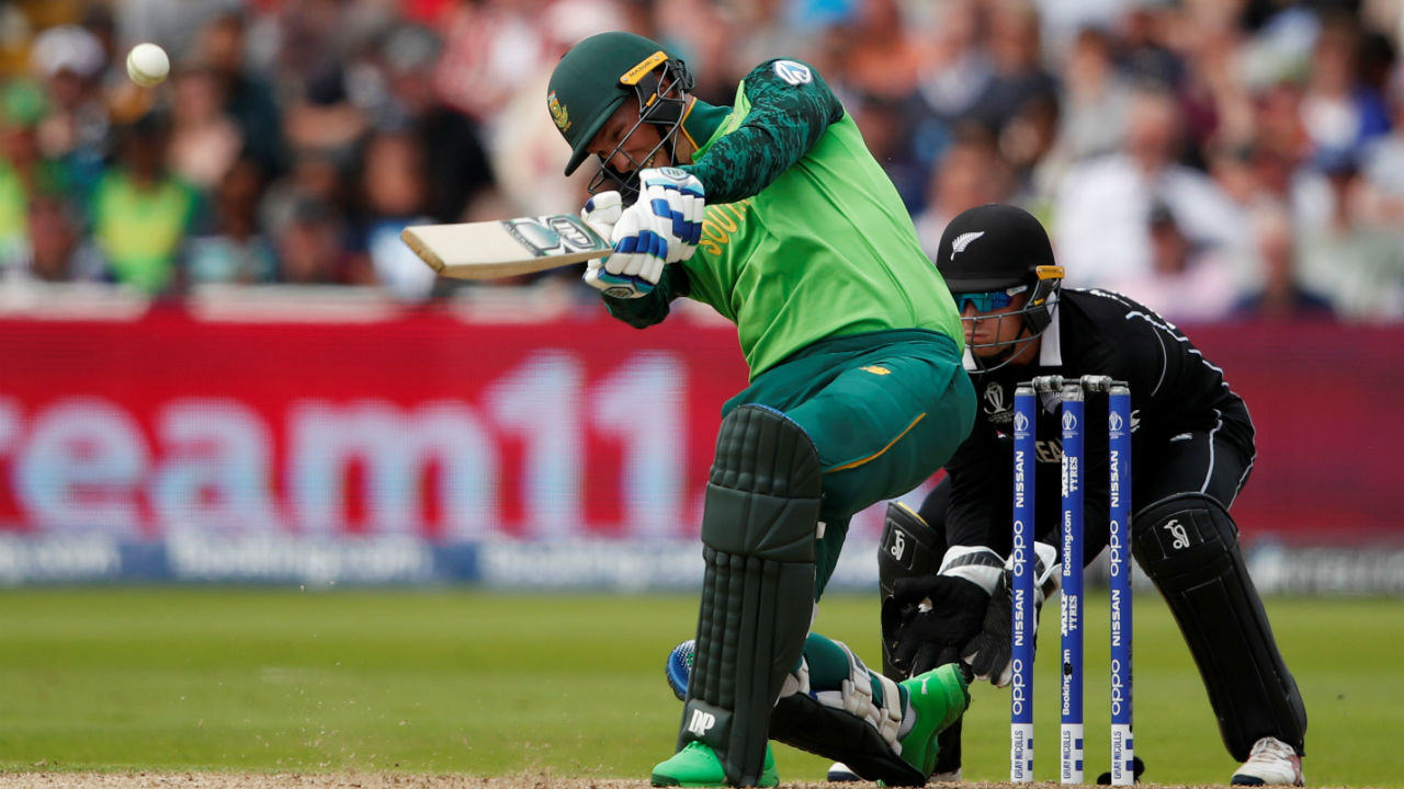 Rassie van der Dussen played an unbeaten innings of 67 off 64 balls as South Africa finished on a total of 241/6 in 49 overs. (Image: Reuters)